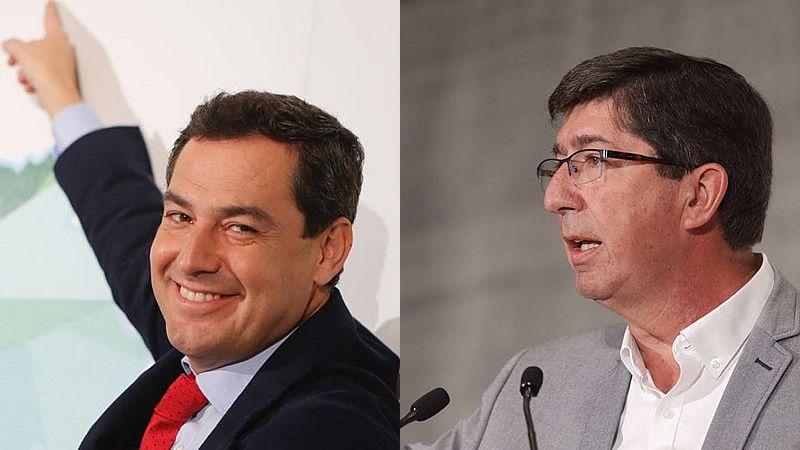 Ciudadanos presidirá el Parlamento de Andalucía con Vox en la Mesa y deja vía libre a que el PP se haga cargo de la Junta en enero