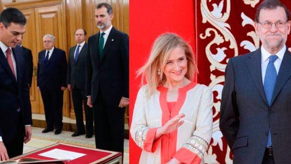 Quim Torra, Pedro Sánchez, Mariano Rajoy, Cristina Cifuentes y Pablo Casado