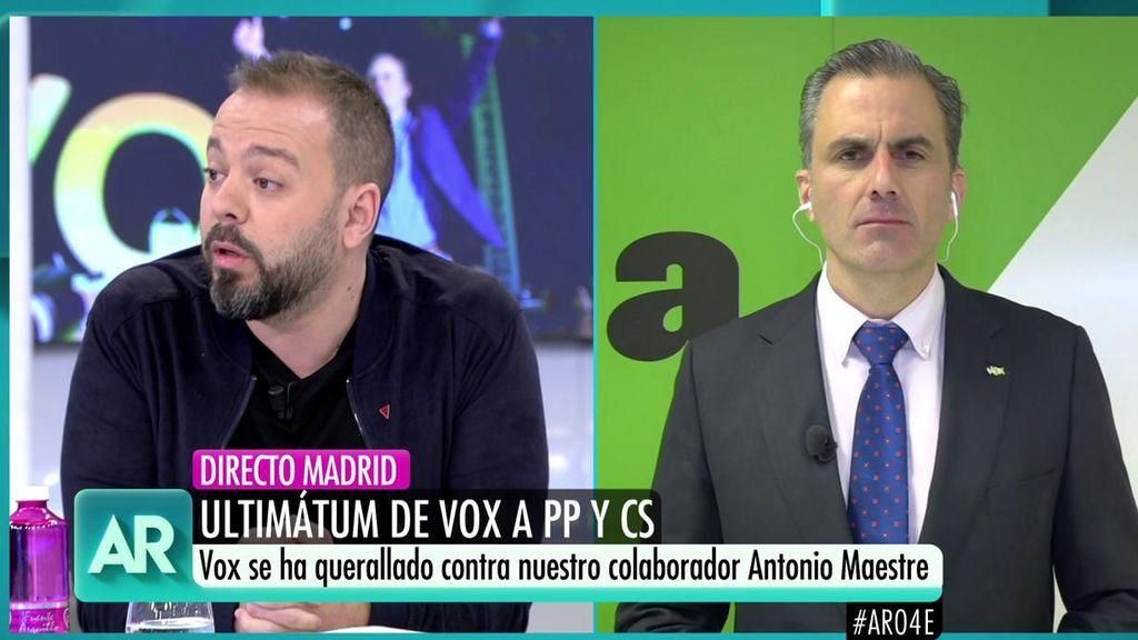 El tenso encontronazo entre Antonio Maestre y Javier Ortega Smith