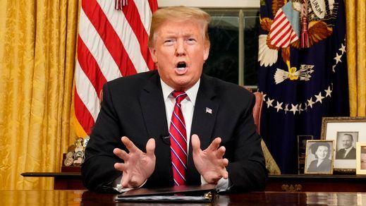 Trump realiza un discurso apocalíptico a la nación pidiendo construir el muro de México por una