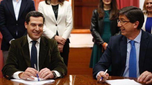 Vox cede y brinda su apoyo al Gobierno de PP y Cs en Andalucía