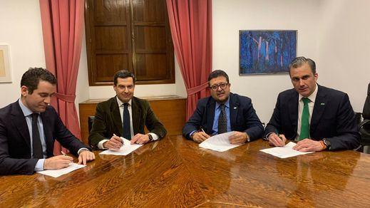 Éste es el acuerdo firmado por el PP y Vox para investir a Moreno