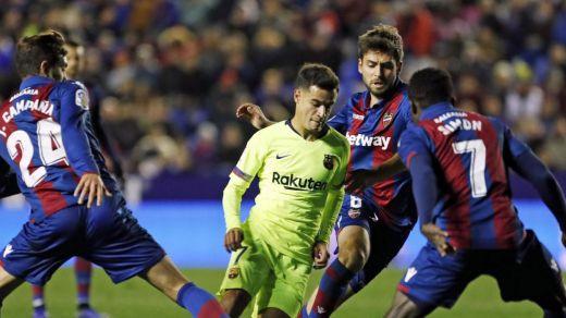 El Levante da un aviso al Barça de los reservas (2-1)