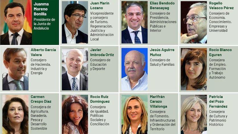 Quién es quién en el Gobierno andaluz liderado por Juanma Moreno