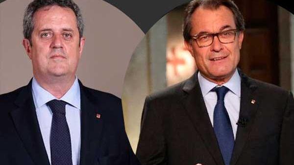 Joaquim Forn y Artur Mas