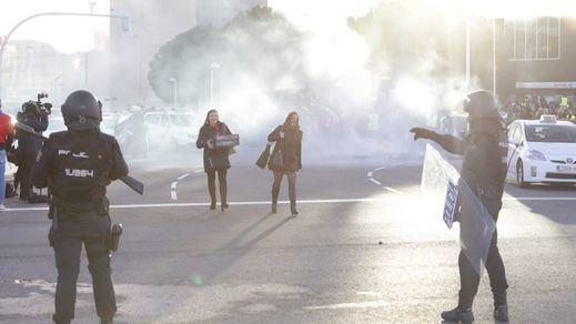 Ifema, colapsado por la huelga de taxistas, que intentaron boicotear el arranque de Fitur