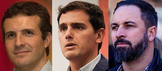 Rivera, Casado y Abascal se manifestarán contra Sánchez