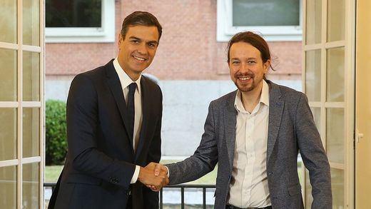 Iglesias hace una pausa en su baja paternal para negociar con Sánchez flecos de los Presupuestos
