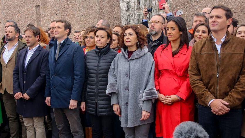 La intrahistoria de la incómoda foto de Rivera junto a Casado y Abascal de Vox