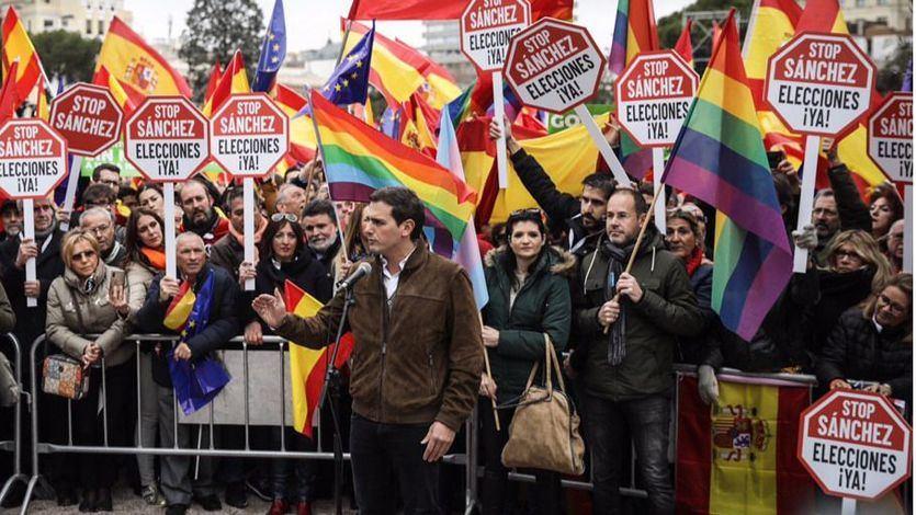 Rivera convoca otra protesta contra Sánchez el domingo en Barcelona