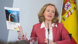La ministra de Economía y Empleo, Nadia Calviño, presenta la Agenda del Cambio