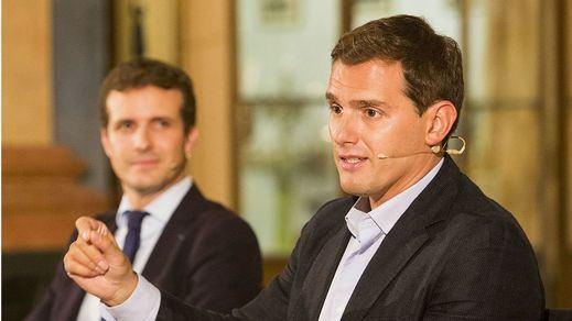 Casado y Rivera allanan ya el camino al pacto poselectoral con Vox