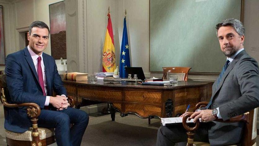 Entrevista de Sánchez en TVE: no hubo pactos con independentistas y seguirá intentando exhumar a Franco