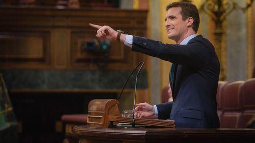 Casado y Rivera, sin piedad contra Sánchez en la última sesión de control parlamentaria al Gobierno