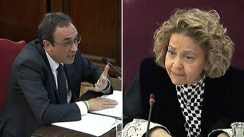 Rull llena de protestas y reproches la sesión del juicio del procés con Madrigal como fiscal