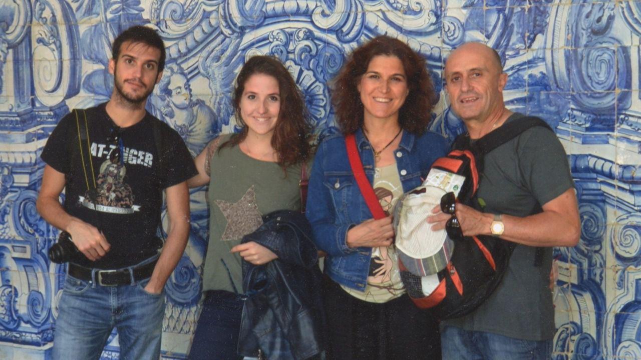 Los Viyuela González (Pepe, Elena, Samuel y Camila), el