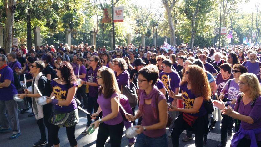 Manifestación contra la violencia de género