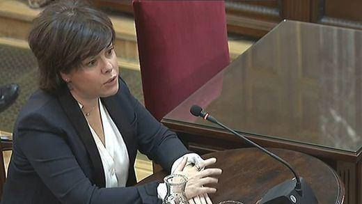 Sáenz de Santamaría admite que Junqueras le reclamó un referéndum en 3 reuniones