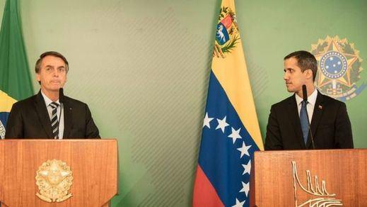 Las compañías de Guaidó: el venezolano se reúne con el presidente de Brasil, Jair Bolsonaro