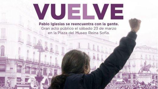 Iglesias se desmarca del polémico cartel que anuncia su regreso