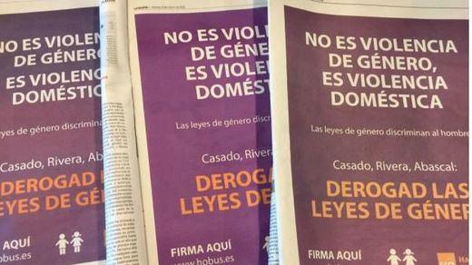 Oleada de indignación ante el anuncio publicado por 'El Mundo', 'Abc' y 'La Razón' contra las