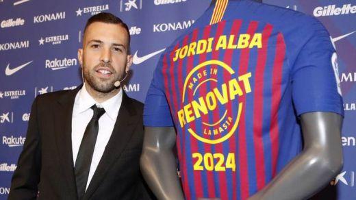 Jordi Alba renueva con el Barça hasta 2024: