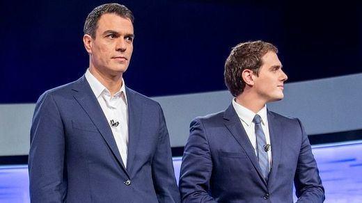 Rivera también desafía a Sánchez a un debate cara a cara y Casado le critica