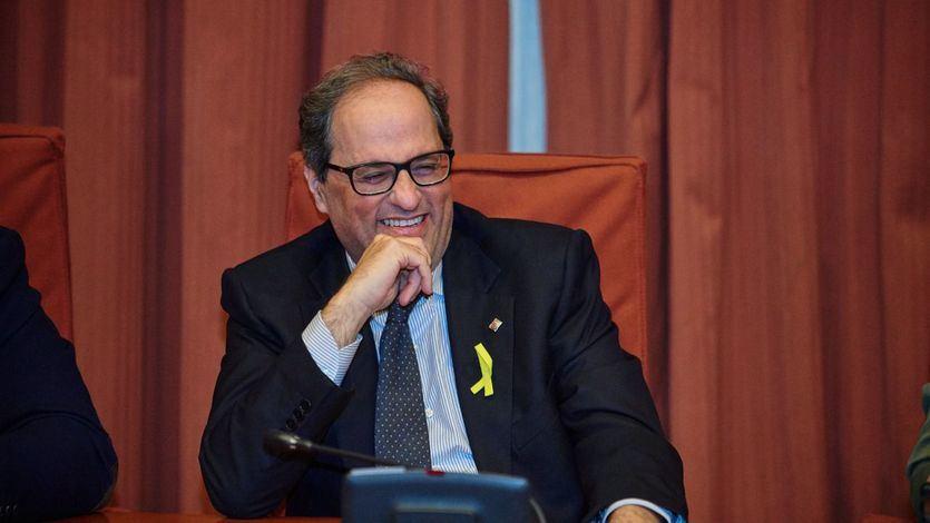 Torra mantiene los lazos amarillos y 'se encomienda' al defensor del pueblo catalán