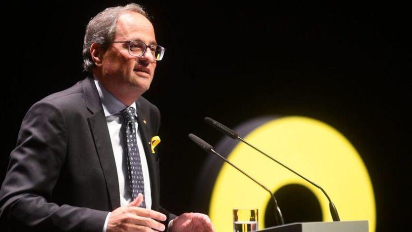 El defensor del pueblo catalán insta a Torra a retirar los lazos amarillos