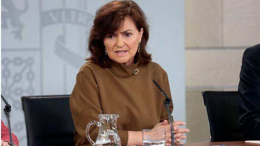 La Junta Electoral da un 'toque' a Carmen Calvo por el uso partidista del Twitter de Vicepresidencia