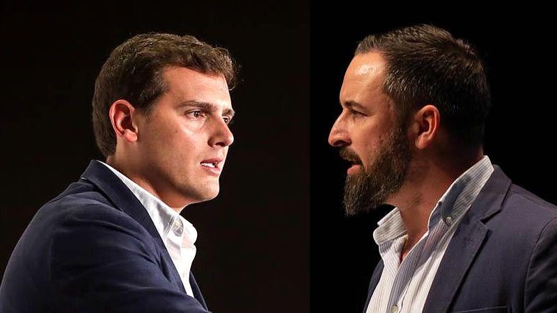 El imposible entendimiento de Cs y Vox: Abascal llama 'caricato', 'enfermo' y mentiroso a Rivera