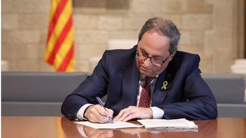 Torra será investigado por desobedecer la orden de la Junta Electoral