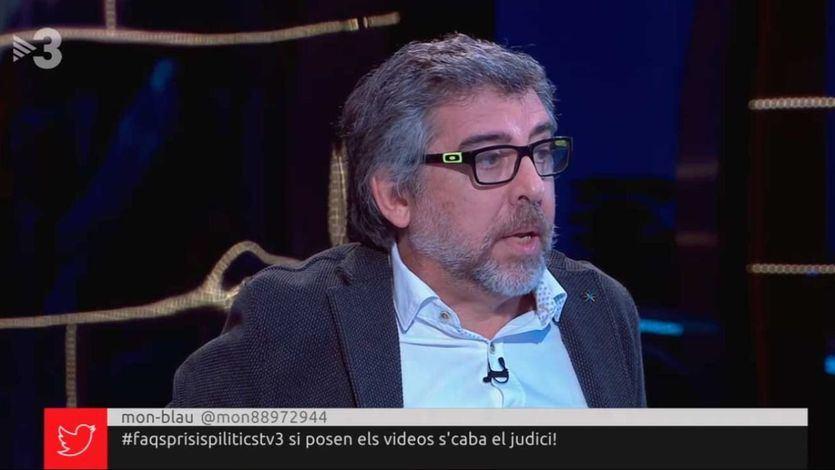 Emisión de TV3 rotulando con los 'prisis pilitics'