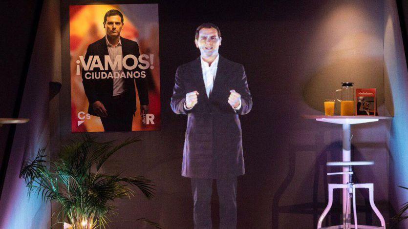 Rivera se estrena en campaña de la manera más tecnológica: apareció en holograma
