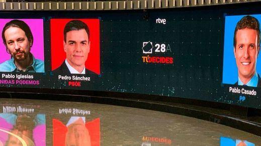 Todos pendientes hoy del polémico debate a 4 en TVE: así será uno de los 2 duelos decisivos de la semana