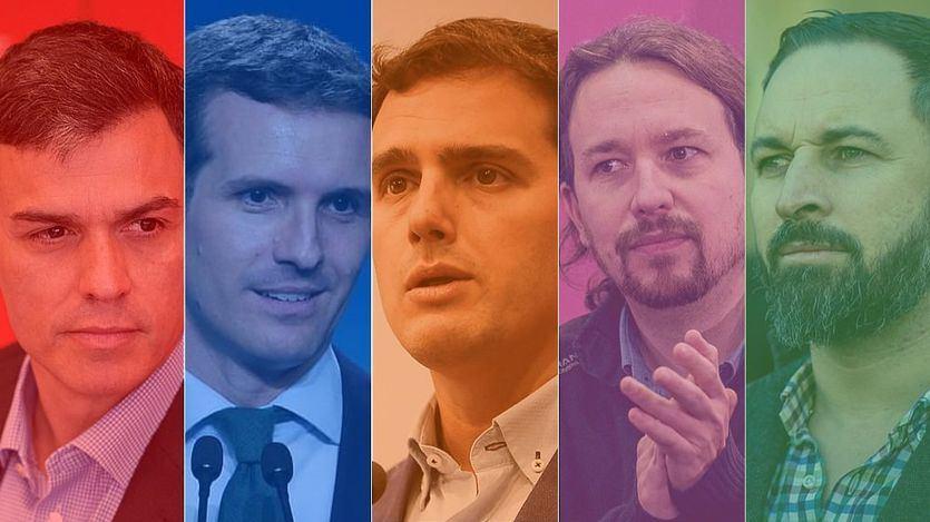 Comparador de los programas electorales del PSOE, PP, Unidas Podemos, Cs y Vox para el 28-A
