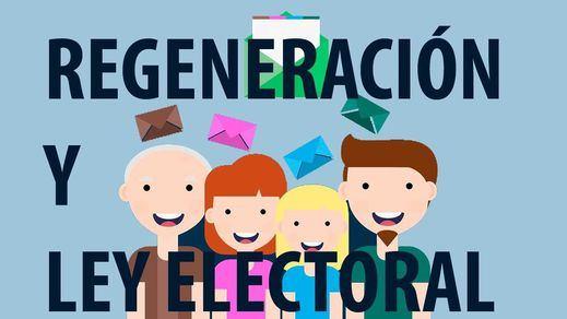 Comparador de programas: Regeneración y Ley Electoral