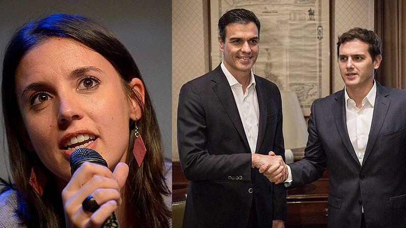 Podemos agota la campaña alertando sobre el pacto oculto: 'Votar al PSOE sólo sirve para hacer vicepresidente a Rivera'