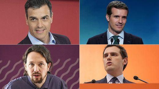 La jornada de reflexión de los principales candidatos al 28-A