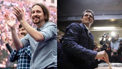 Iglesias y Rivera animan a la participación en unas elecciones cruciales
