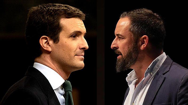 Casado y Abascal cierran las votaciones de los principales candidatos