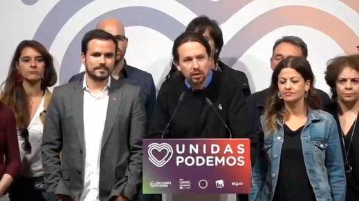 Un Iglesias serio ofrece a Sánchez un gobierno de coalición sin querer mentar a Ciudadanos