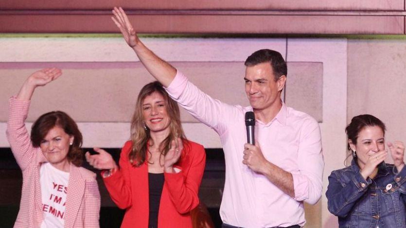 'Ha quedado bastante claro, ¿no?', respondió Sánchez a quienes le coreaban: '¡Con Rivera no!'