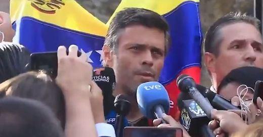 Las dos perlas que dejó Leopoldo López ante la prensa en la residencia del embajadador español en Caracas
