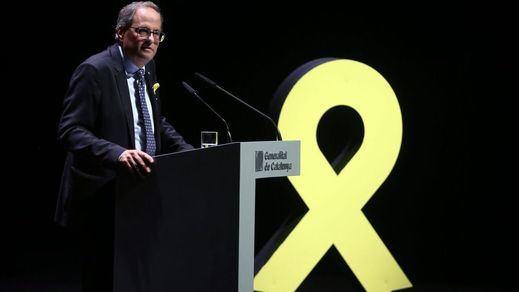 Torra declarará el 15 de mayo en el juzgado por no retirar los lazos amarillos en campaña
