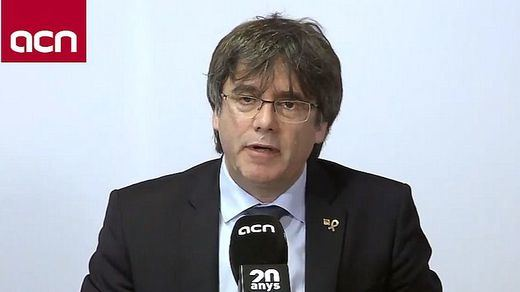 Puigdemont renuncia a ser president catalán en el futuro y se limitará a una carrera política en Europa