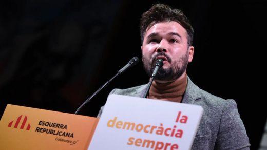 Rufián desvincula el veto a Iceta de la votación de investidura de Sánchez