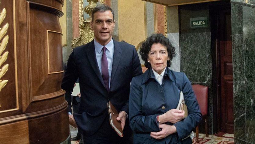 Moncloa y el PSOE reclaman la abstención de PP y Cs en la investidura de Sánchez