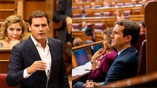 ¿Nuevo líder de la oposición?: Rivera 'pasa por encima' de Casado en el Congreso