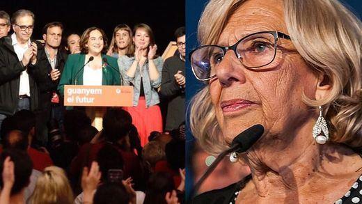 Desastre municipal para la izquierda: Colau se despide de Barcelona y Carmena pierde Madrid